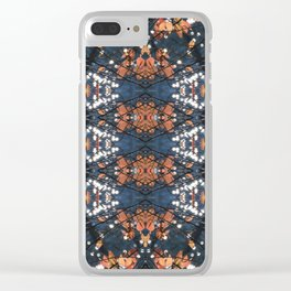 Autumnal mosaic Clear iPhone Case