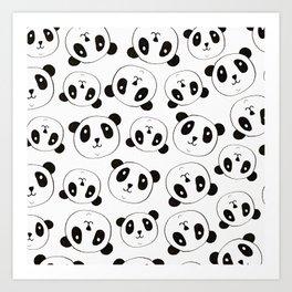 Panda Pattern Art Print