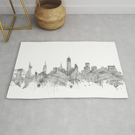 new york skyline music Rug
