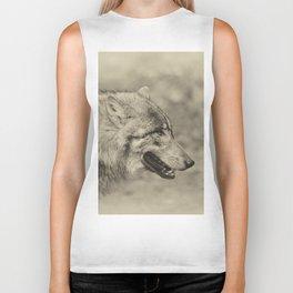 lonesome wolf Biker Tank