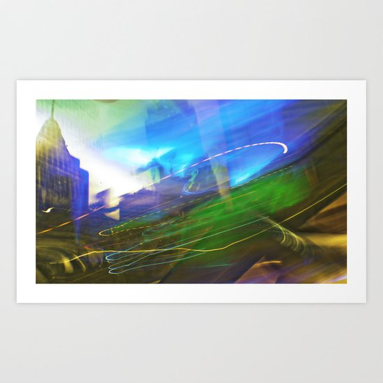 colorful drive Art Print