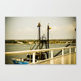 Orange Dock Canvas Print