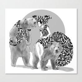 Bear Necessities #1 Bearly Secret Canvas Print