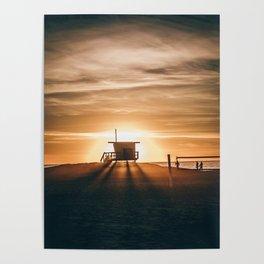 Golden Pier (Color) Poster