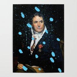 Brutalized Portrait of a Gentleman Poster