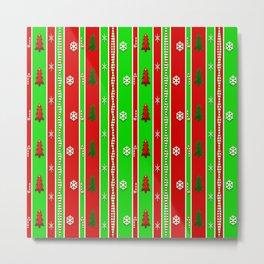 Christmas Paper Pattern Metal Print