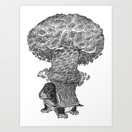 Atomic Turtle Art Print