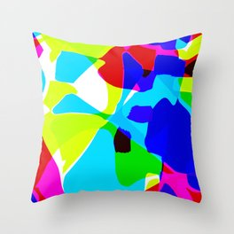 Abstracted in Time Throw Pillow
