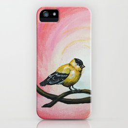 Minimalist Goldfinch iPhone Case