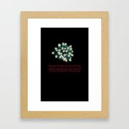 A Byers Family Christmas Framed Art Print