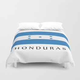 Honduras flag Duvet Cover