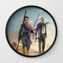 Rey and BB8 Wall Clock