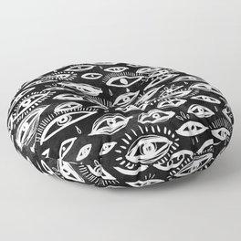 The Third Eye Black Floor Pillow