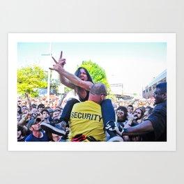 Crowdsurfing Fan, Eyehategod show Art Print