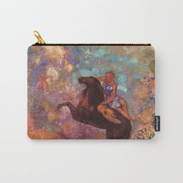 "Odilon Redon ""Muse on Pegasus"" Carry-All Pouch"