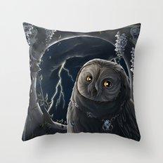 solar owl jupiter  Throw Pillow