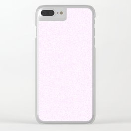 Spacey Melange - White and Pastel Violet Clear iPhone Case