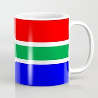 south africa Mugs featuring south africa country flag by tony tudor