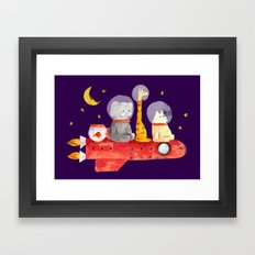 Let's All Go To Mars Framed Art Print