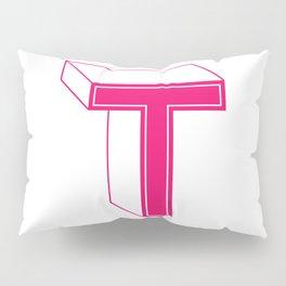 Letter T Pillow Sham