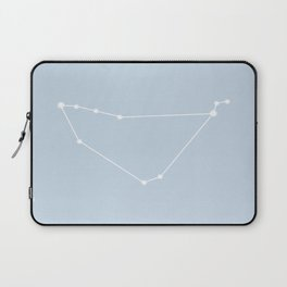 Capricorn Zodiac Constellation - Pastel Blue Laptop Sleeve