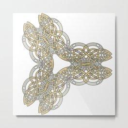 Abstract Bi-metal Celtic Design Metal Print