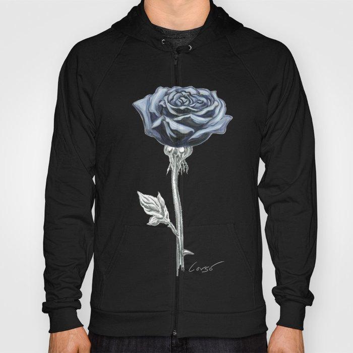 Rose 03 Botanical Flower * Blue Black Rose : Love, Honor, Faith, Beauty, Passion, Devotion & Wisdom Hoody