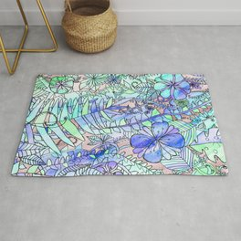 Blue, Mint & Purple Rug