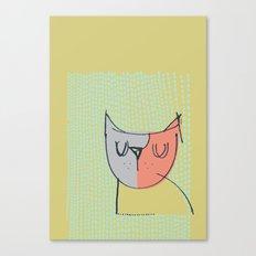 Cubist Cat Study #3 by Friztin Canvas Print