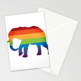LGBT Lesbian Gay Flag Pride Elephant Stationery Cards