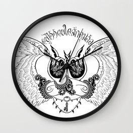wings of awareness Wall Clock