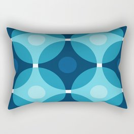 Blue Circles Rectangular Pillow