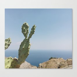 View from a panoramic point in Sicily Canvas Print