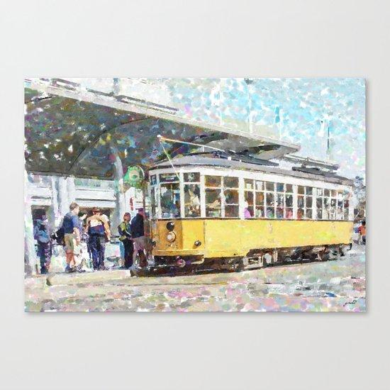 San Francisco Muni F Car at Embarcadero Station by Mark Gould Canvas Print