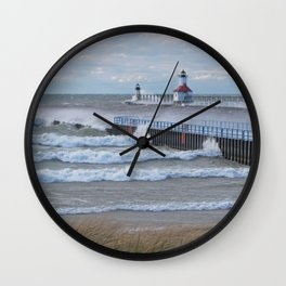 Strong Winds Blowing Wall Clock