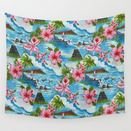 Hawaiian Scenes Wall Tapestry