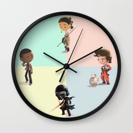 Space Pals (and Facehat Guy) Wall Clock