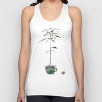 avocado Tank Tops featuring Avocado Tree by J Arell