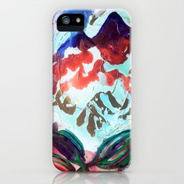 For purple mountain majesties iPhone Case