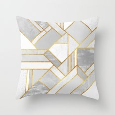 Gold City Throw Pillow