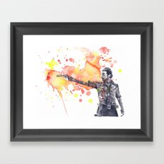 Portrait of Rick Grimes from The Walking Dead Framed Art Print