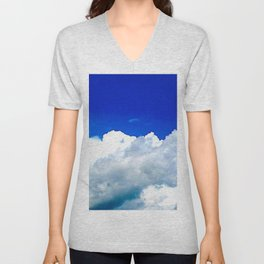Clouds in a Clear Blue Sky Unisex V-Neck