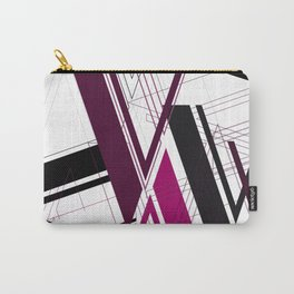 "Abstract Typography: Art Deco ""V"" Carry-All Pouch"