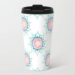 Rainbow Mandala Doodle Travel Mug