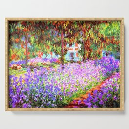 Monets Garden in Giverny Serving Tray