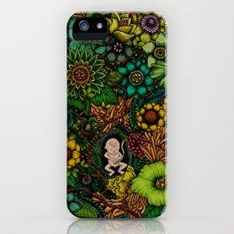 """Floral Uterus """"緑(ROKU)"""" iPhone Case"""