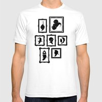 Stage Select White SMALL Mens Fitted Tee