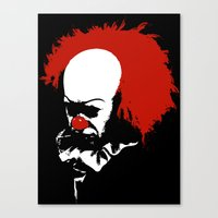 pennywise Canvas Prints featuring Pennywise by KlatuCorp