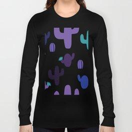 Cactus purple #homedecor Long Sleeve T-shirt