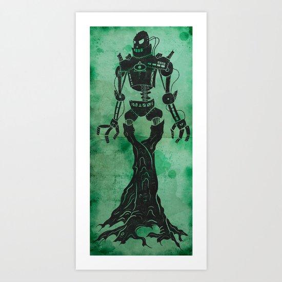 Antiquarian Roboterbaum Art Print